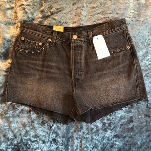 NWT Black Studded Levi's 501 Shorts